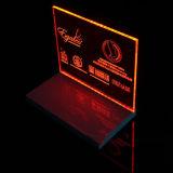 Autonome haut lumineux acrylique de présentoirs de produits de beauté pour la publicité de soins de la peau