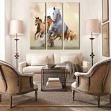 現代抽象的な様式の巨大なキャンバスの馬の壁のHangingsの壁の芸術のホーム装飾のカスタムキャンバスプリント