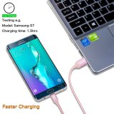 USB 책임 케이블 우수한 Samsung 인조 인간 은하 S7, S6, PS4, HTC, LG, 소니, Blac를 위한 마이크로 B Sync 데이터 & 책임 케이블에 나일론에 의하여 땋아지는 고속 USB 남성