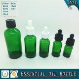 Оптовая бутылка эфирного масла зеленого стекла с капельницей насоса давления