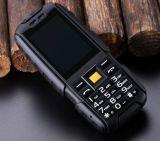 険しい電話Dtno。 I懐中電燈のちり止めの耐震性の2.4インチカラーの第1 A9はSIM 2g GSM 4800mAh力バンクの黒二倍になる