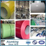A cor de PE/PVDF revestiu a bobina de alumínio