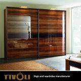 光沢度の高いラッカー絵画木製のベニヤの寝室の家具の戸棚のフルハウスの習慣Tivo-050VW