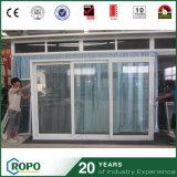 3 puertas de vidrio de desplazamiento plásticas económicas de energía del patio del panel