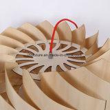 Lâmpada de madeira montada do pendente do moinho de vento de Uroborus do projeto autêntico