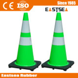 ライムグリーン反射PVCプラスチックトラフィックの道の円錐形