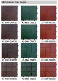 Telha de borracha de bloqueio ao ar livre do Decking do revestimento SBR de DIY com padrões de RoHS