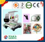 Einzelne Nadel-Computer-Stickerei-Maschine des Kopf-15 für Schutzkappe, T-Shirt, flaches, Beutel, Firmenzeichen, 3D, Schuhe, Sequin, schnürend und Raupe-Stickerei gebildet in den China-Preisen
