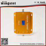 Impulsionador duplo do sinal do telemóvel da faixa Dcs/3G 1800/2100MHz com LCD