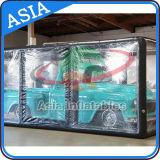 Vetrina gonfiabile della capsula dell'automobile, tenda trasparente gonfiabile per l'automobile, coperchio gonfiabile dell'automobile
