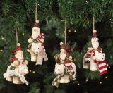 Regalos colgantes de la decoración de la estatuilla de Santa de la Navidad de Polyresin