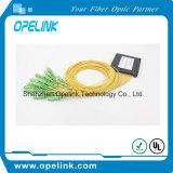 Pon/FTTH/CATV를 위한 Gpon 원거리 통신 1X16 플라스틱 상자 PLC 쪼개는 도구