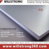 panneau composé en aluminium de résistance d'incendie de 6mm pour la façade