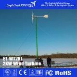 sistema das energias eólicas do gerador de vento das energias eólicas da turbina de vento 2kw