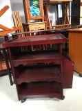 Tabella di legno del lato del sofà della mobilia con la mensola dello scomparto