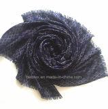 Dunkler Farben-Geometic kundenspezifischer Polyester-langer Schal (HWBPS451)
