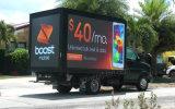 Caminhão móvel diodo emissor de luz ao ar livre montado da cor cheia que anuncia o quadro de avisos (P6, P8, P10, P16)