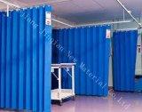 Tela não tecida Anti-Blood&Anti-Bateriana do azul SMS para a cortina médica descartável