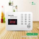 カラーディスプレイの接触キーパッドの情報処理機能をもった機密保護のホームGSMの警報システム