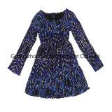 Kleid der Frauen-Form-Kleid-Dame-Yarndye