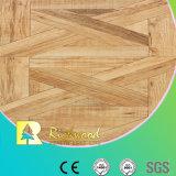 Le teck de texture de fibre de bois du film publicitaire 8.3mm a ciré le plancher en stratifié bordé
