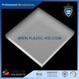 Замороженный ясный большой плексиглас покрывает декоративный материал