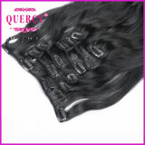 Unverarbeitetes Jungfrau Remy brasilianisches Menschenhaar-Doppeltes gezeichneter starker Enden-Klipp im Haar