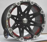 Полируя колесо сплава участвуя в гонке автомобиля евро спицы красного цвета