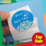 De zelfklevende MARKERING van het Etiket 13.56MHz NTAG213 Slimme NFC