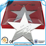 Neue kundenspezifische Form-weiches Stern-Art-Reverspin-Abzeichen
