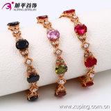 Braccialetto elegante di colore dell'oro della Rosa di Zircon Xuping di modo all'ingrosso della Cina