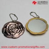 Espejo redondo portable de la dimensión de una variable del modelo de Rose de la certificación de RoHS del Ce