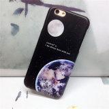 Caso macio creativo dos pares TPU da terra e da lua para o iPhone