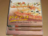 외부 백색과 자연 적이고 또는 Kraft 실내 피자 상자 (CCB0235)