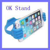 이동할 수 있는 Phone Tablet Universal TPU 및 Mobile Phone Tablet PC를 위한 Spring Steel Material Thumb Holder 좋 Stand