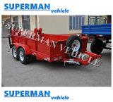Rimorchio di programma di utilità della barra di traino del carrello del carico dell'elemento portante di automobile dei due assi