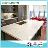 KitchenおよびBathroomのための設計されたQuartz Stone Calacatta Glass Countertops