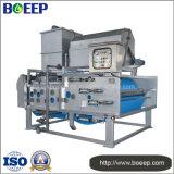 Machine de asséchage automatique de filtre-presse de courroie dans le projet de traitement d'eaux d'égout de boissons