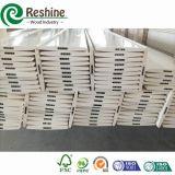 Белые покрашенные твердые компоненты рельса штарки PVC