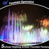 Het drijven de Lopende Kleurrijke Verlichting van de Fontein