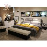 홈 (2106+12)를 위한 최고 곡물 회색 가죽 침대