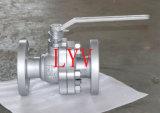 Robinet à tournant sphérique à flasque modifié d'acier inoxydable d'extrémité