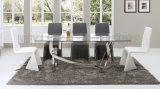 Retratos ajustados de jantar luxuosos da mobília de Guangdong da cadeira de tabela do jantar (NK-DTB005)