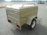 Puder Coated Box Utility Trailer mit Canopy