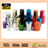Bottiglia di plastica variopinta della plastica della scatola metallica