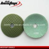 Almofadas de polonês molhadas convexas flexíveis do diamante do granito e do mármore