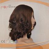 Parrucca piena delle donne della base del merletto del lavoro della parte superiore della pelle legata mano di colore di Muti dei capelli umani