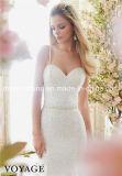 Mori Lee querida pérola de imitação Spaghetti Strap Tullle vestido de casamento (Dream-100051)
