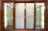 Doppeltes Verglasung Aluminiumflügelfenster-Tür