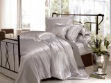 Ropa de cama determinada del lecho de seda inconsútil de Oeko-Tex de la hoja de la materia textil del hogar de la nieve de Taihu